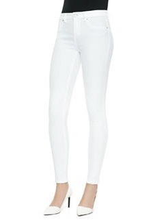 Elie Tahari Selena White Skinny Cropped Jeans
