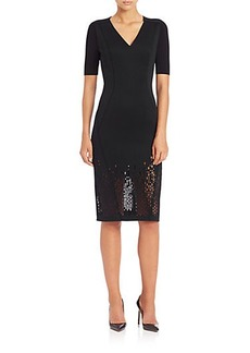 Elie Tahari Shannon Short Sleeve Neo Dress