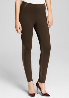 Elie Tahari Shay Leather Panel Leggings - Bloomingdale's Exclusive