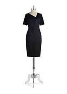 ELIE TAHARI Short-Sleeve Sheath Dress