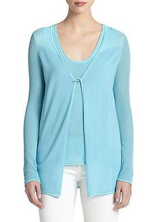 Elie Tahari Silk & Cotton Allison Sweater