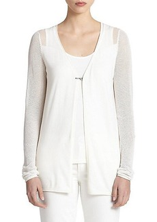 Elie Tahari Silk & Cotton Allison Sweater