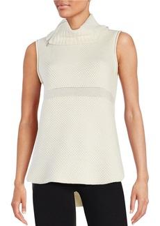 ELIE TAHARI Sleeveless Turtleneck Sweater