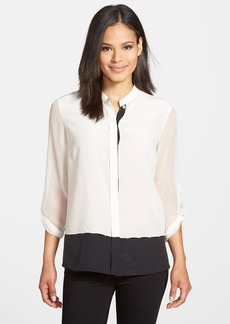 Elie Tahari 'Sonia' Colorblock Silk Blouse