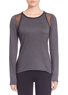 Elie Tahari Sport Clover Long-Sleeve Knit Top