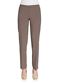 Elie Tahari Stretch Wool Straight-Leg Pants