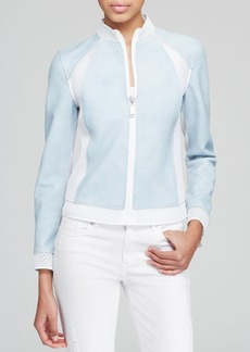 Elie Tahari Suella Mixed Media Jacket
