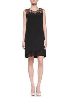 Elie Tahari Suellan Sleeveless Web-Lace Dress