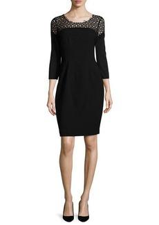 Elie Tahari Suzie 3/4-Sleeve Sheath Dress  Suzie 3/4-Sleeve Sheath Dress