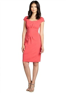 Elie Tahari tea berry stretch knit 'Gia' pleated front shift dress