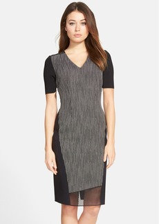 Elie Tahari 'Telese' Mixed Media Sheath Dress