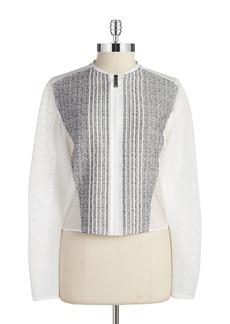ELIE TAHARI Telese Zip Front Jacket