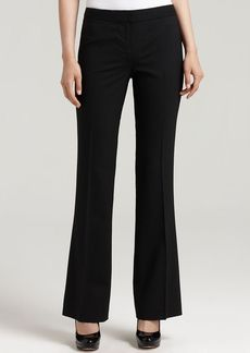 "Elie Tahari ""Theora"" Stretch Wool Straight Leg Pants"