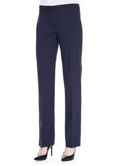 Elie Tahari Theora Stretch-Wool Straight-Leg Pants