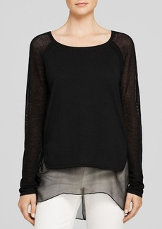 Elie Tahari Tipper Mixed Media Sweater