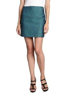 Elie Tahari turquoise tweed 'Alexis' mini skirt