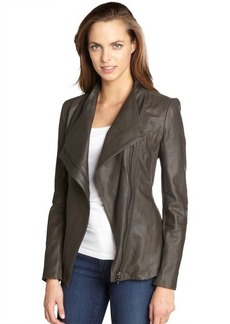 Elie Tahari tusk 'Constance' peplum leather jacket