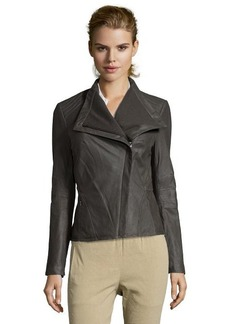 Elie Tahari tusk leather 'Jeanette' asymmetric shawl collar jacket