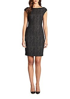 Elie Tahari Tweed-Front Dress