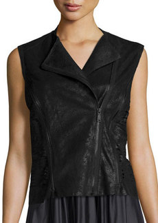 Elie Tahari Victoria Leather Multi-Zip Vest  Victoria Leather Multi-Zip Vest