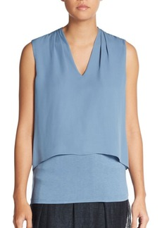 Elie Tahari Viola Layered Silk Top