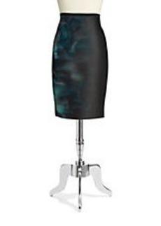 ELIE TAHARI Violet Scuba Pencil Skirt