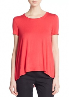 Elie Tahari Virginia Chiffon-Back Top