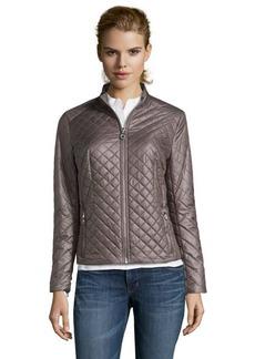 Elie Tahari warm clay diamond quilted 'Anorak' jacket