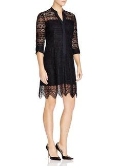Elie Tahari Whitney Lace Shirt Dress