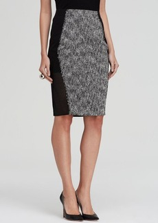 Elie Tahari Willow Mixed Media Pencil Skirt