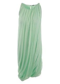 Elie Tahari Women's Alanis Drapey Chiffon Dress, Mint Cream, X-Large