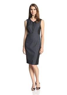 Elie Tahari Women's Aurella Mini Birdseye Sleeveless Dress