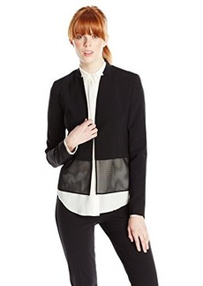 Elie Tahari Women's Ava Seasonless Wool Mesh Hem Jacket