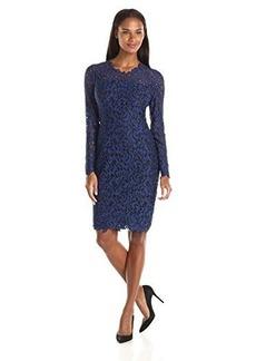 Elie Tahari Women's Bellamy Dress, Blue/Black, 10