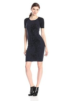 Elie Tahari Women's Betty Short Sleeve Sweater Dress