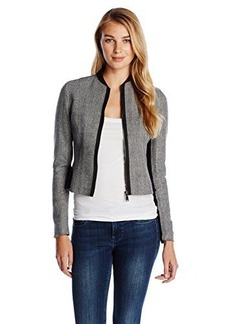 Elie Tahari Women's Cambell Tweed Zip Up Jacket