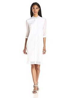 Elie Tahari Women's Cosette Cotton Poplin Shirtdress
