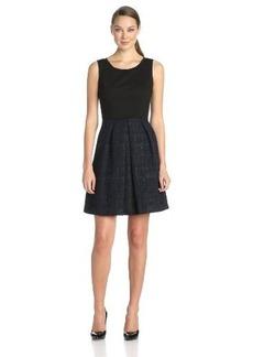 Elie Tahari Women's Daisy Lurex-Jacquard Flared Dress