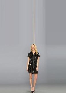 Elie Tahari Women's Dallas Fireburst Sequin Short Sleeve Tunic Dress