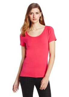 Elie Tahari Women's Elaina Short Sleeve Knit Top