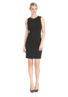 Elie Tahari Women's Emory Double-Knit Sleeveless Crew-Neck Sheath Dress