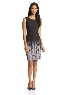 Elie Tahari Women's Emory Ombre Geneva-Print Sheath Dress