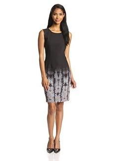 Elie Tahari Women's Emory Ombre Geneva-Print Sheath Dress