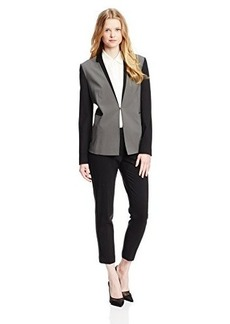 Elie Tahari Women's Evie Season Less Wool Colorblock Jacket