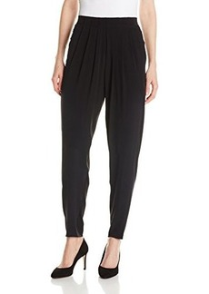 Elie Tahari Women's Gemma Pleated Silk Relaxed Pant