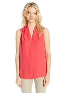 Elie Tahari Women's Ginny Silk Sleeveless Blouse