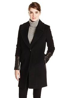 Elie Tahari Women's Greece Notch Collar Wool Coat