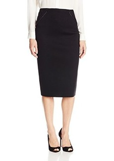 Elie Tahari Women's Harla Bonded Techno Knit Pencil Skirt