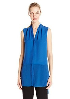 Elie Tahari Women's Hayden Sleeveless Silk Tunic Top