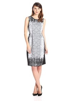 Elie Tahari Women's Holly Fadeout Serpentine Jacquard Fit and Flare Dress